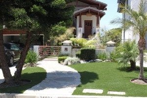 Dana point artificial grass installation